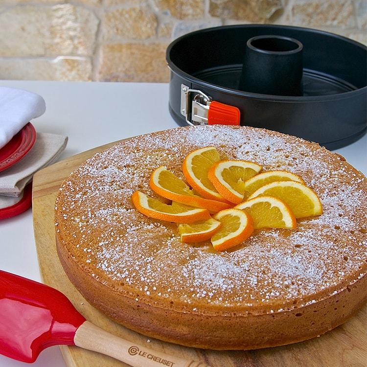 Le Creuset Toughened Non-Stick Springform Round Cake Tin w/ Funnel 25.6x6.75cm