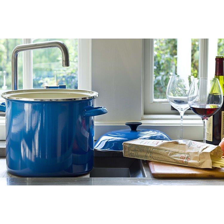 Le Creuset Enamel Stockpot 22cm - 7.6L Marseille Blue