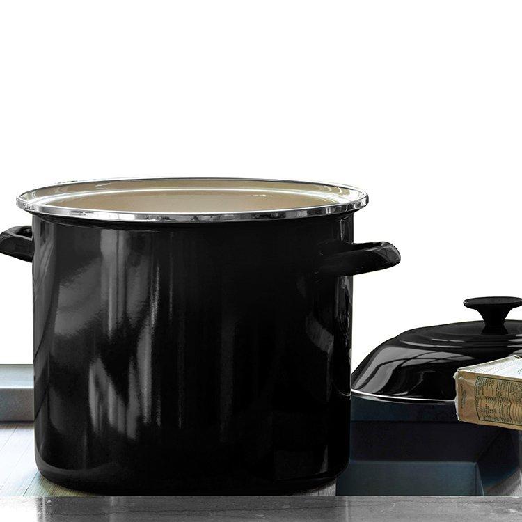 Le Creuset Enamel Stockpot 22cm - 7.6L Satin Black image #3