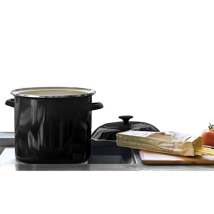 Le Creuset Enamel Stockpot 22cm - 7.6L Satin Black