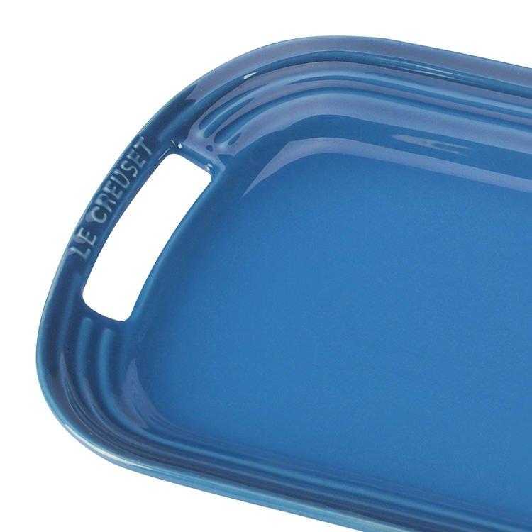 Le Creuset Stoneware BBQ Platter 36cm Marseille Blue