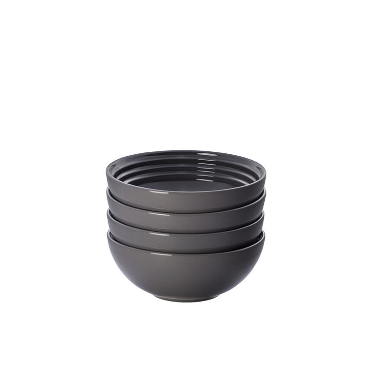 Le Creuset Stoneware Cereal Bowl 16cm Set of 4 Flint