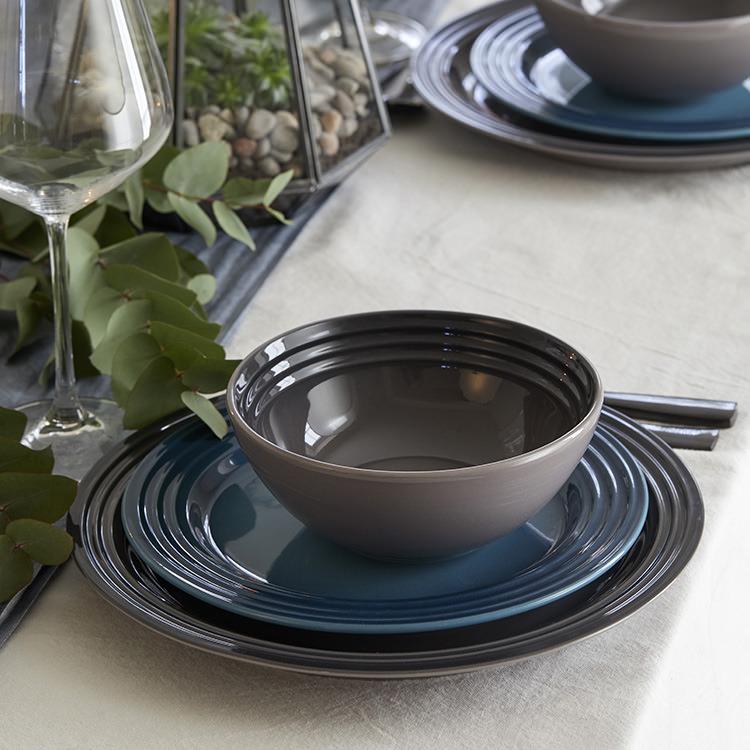 Le Creuset Stoneware Cereal Bowl 16cm Set of 4 Flint image #3