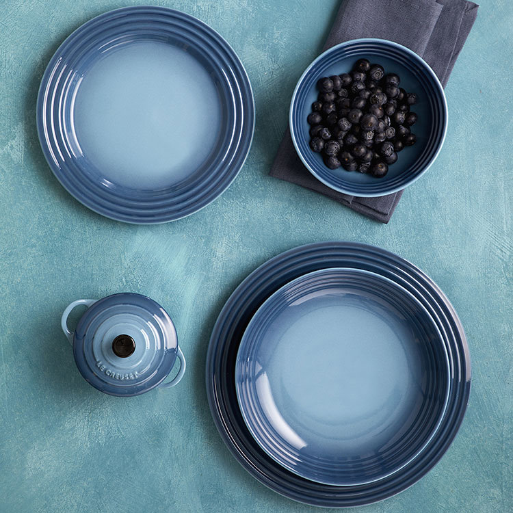 Le Creuset Stoneware Cereal Bowl 16cm Set of 4 Marine