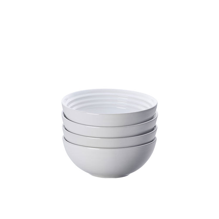 Le Creuset Stoneware Cereal Bowl 16cm Set of 4 White