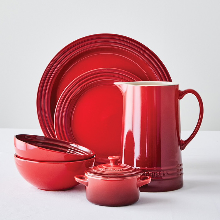 Le Creuset Stoneware Dinner Plate 27cm Set of 4 Cerise