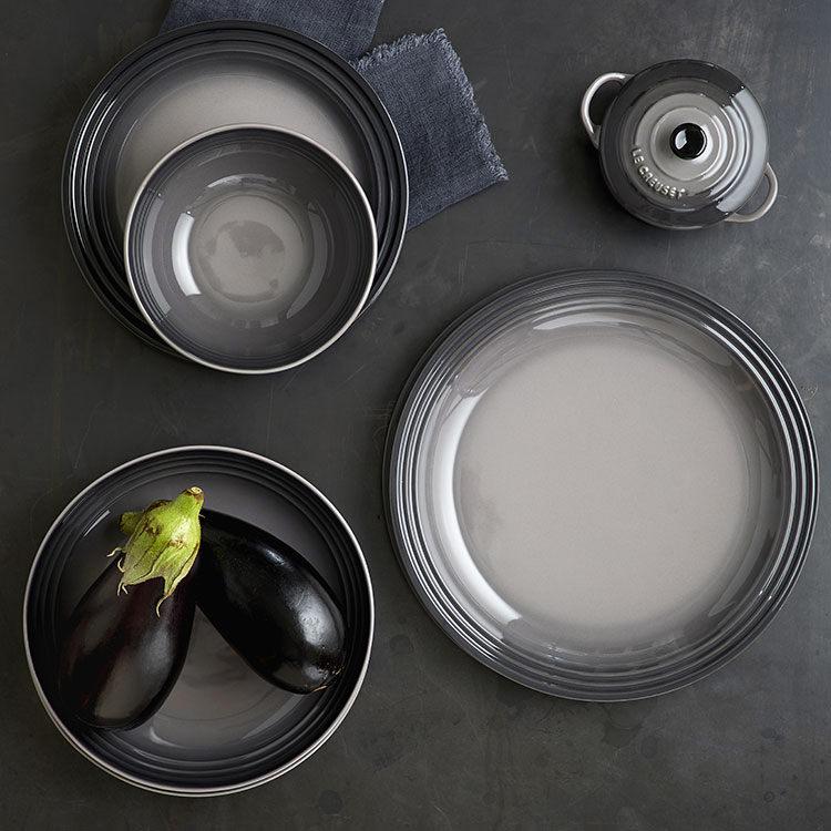 Le Creuset Stoneware Dinner Plate 27cm Set of 4 Flint image #3
