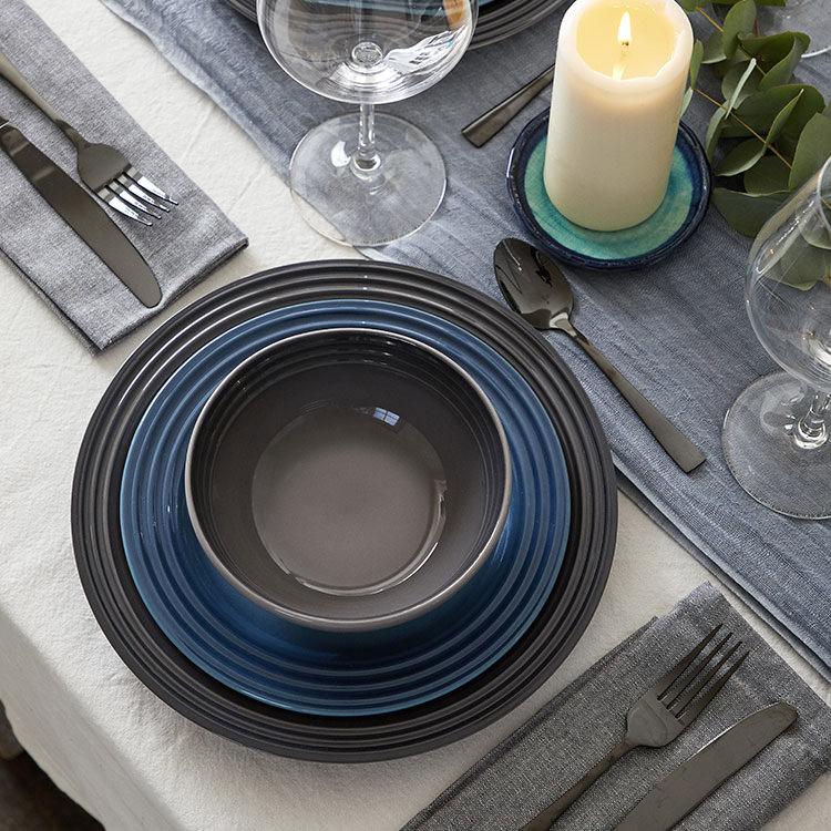Le Creuset Stoneware Dinner Plate 27cm Set of 4 Flint image #5
