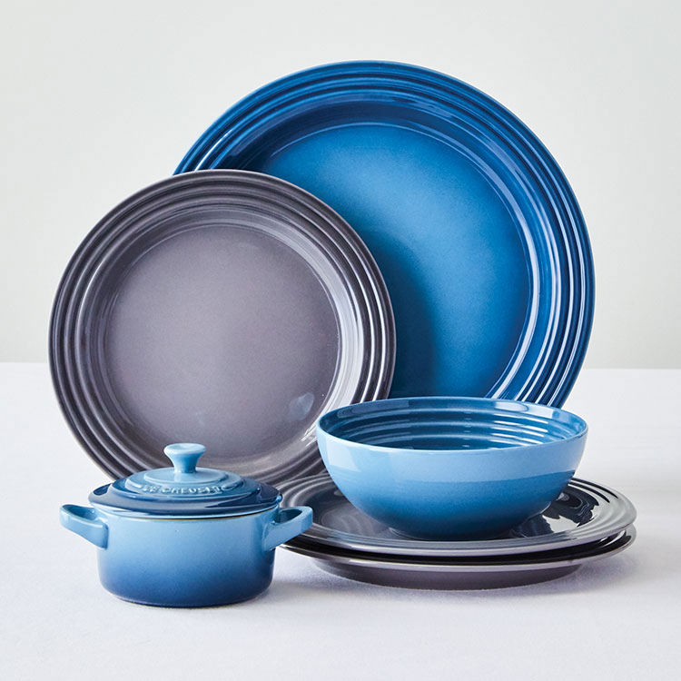 Le Creuset Stoneware Dinner Plate 27cm Set of 4 Marine