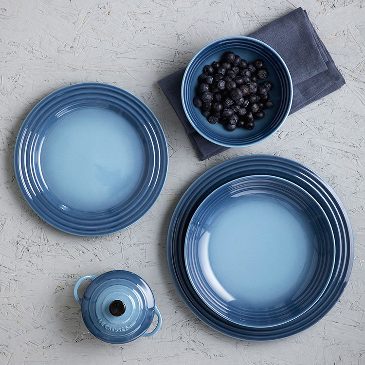 Le Creuset Stoneware Dinner Plate 27cm Set of 4 Marine