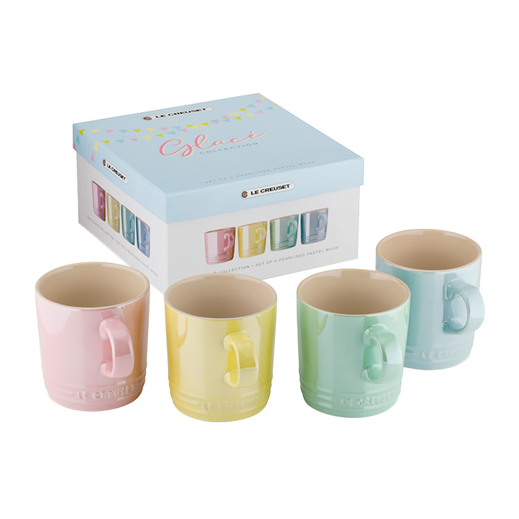 Le Creuset Glace Stoneware Mug 350ml Set of 4