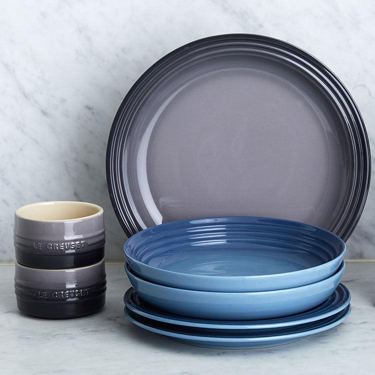 Le Creuset Stoneware Pasta Bowl 22cm Set of 4 Marine