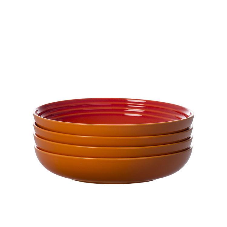 Le Creuset Stoneware Pasta Bowl 22cm Set of 4 Volcanic