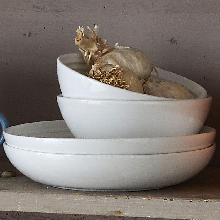 Le Creuset Stoneware Pasta Bowl 22cm Set of 4 White