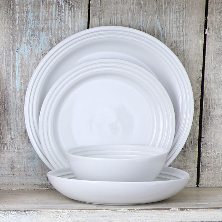 Le Creuset Stoneware Pasta Bowl 22cm Set of 4 White