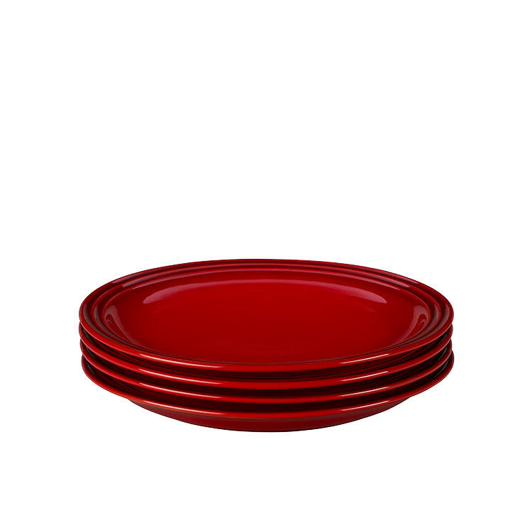 Le Creuset Stoneware Side Plate 22cm Set of 4 Cerise