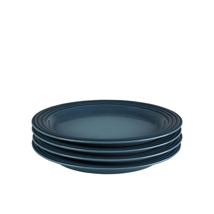 Le Creuset Stoneware Salad Plate 22cm Set of 4 Marine