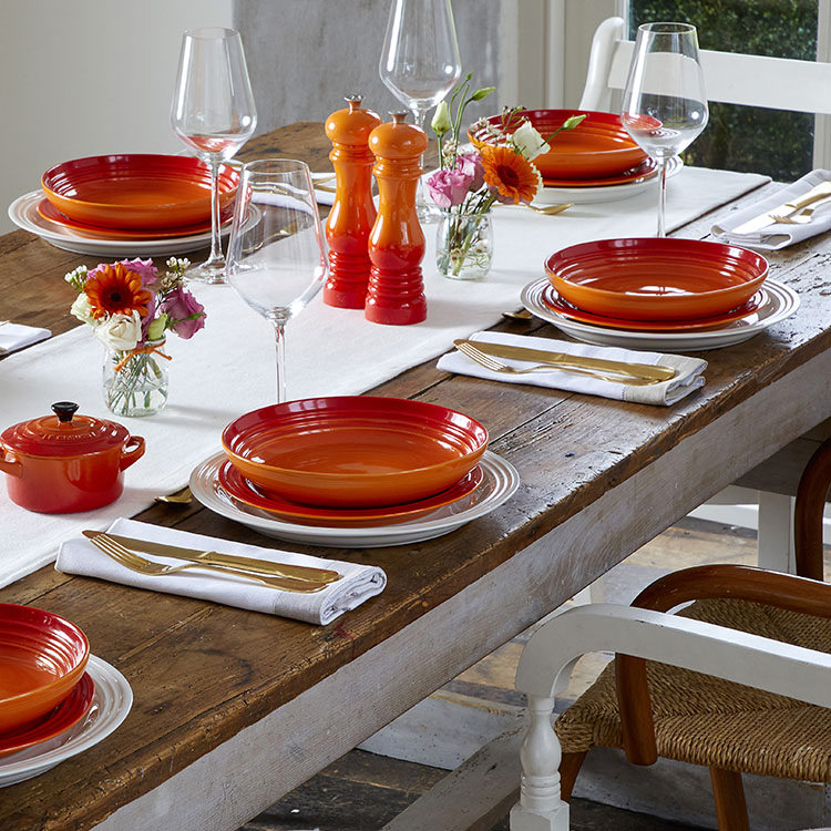 Le Creuset Stoneware Side Plate 22cm Set of 4 Volcanic