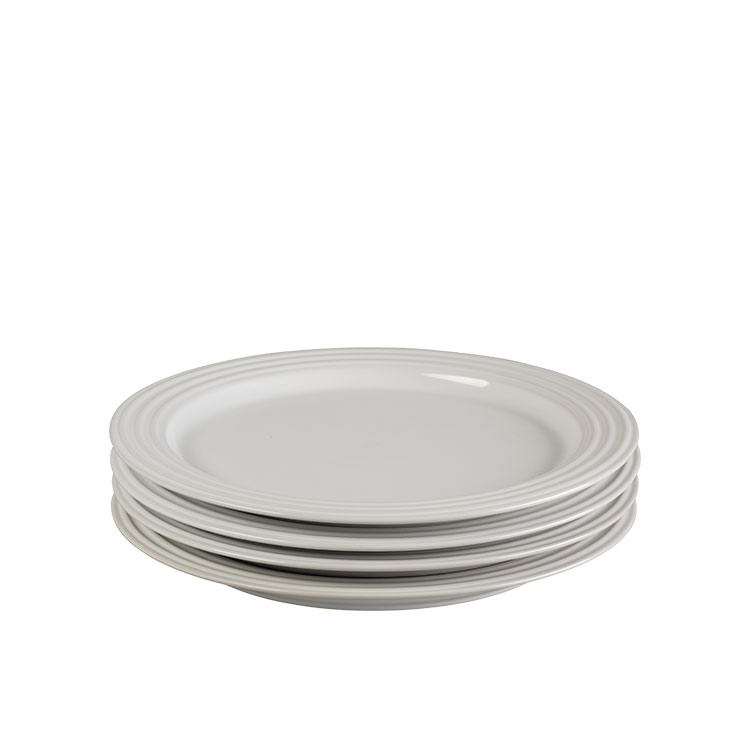 Le Creuset Stoneware Salad Plate 22cm Set of 4 White