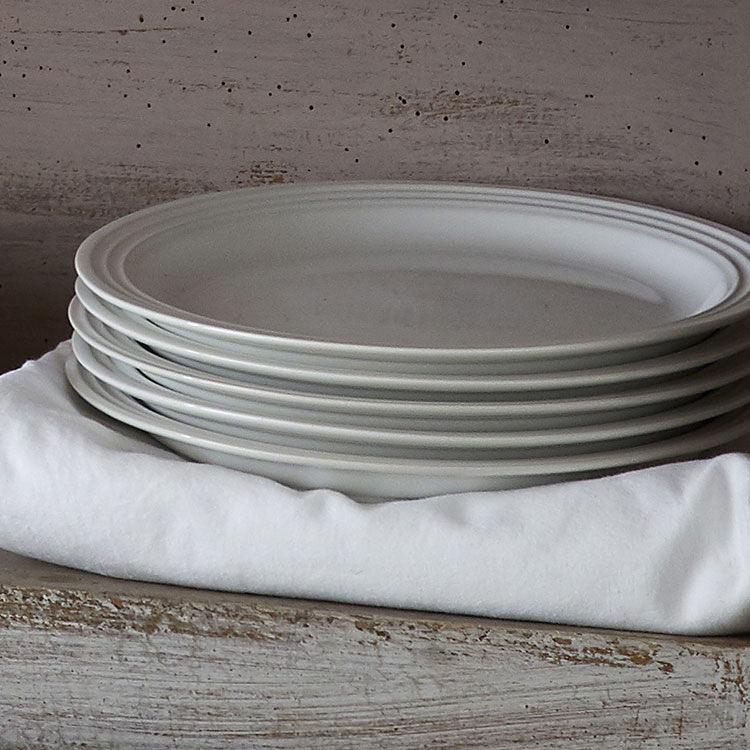 Le Creuset Stoneware Side Plate 22cm Set of 4 White