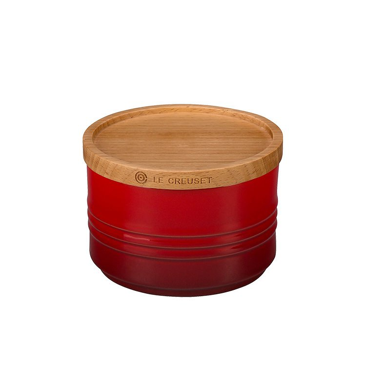 Le Creuset Stoneware Storage Canister Small Cerise
