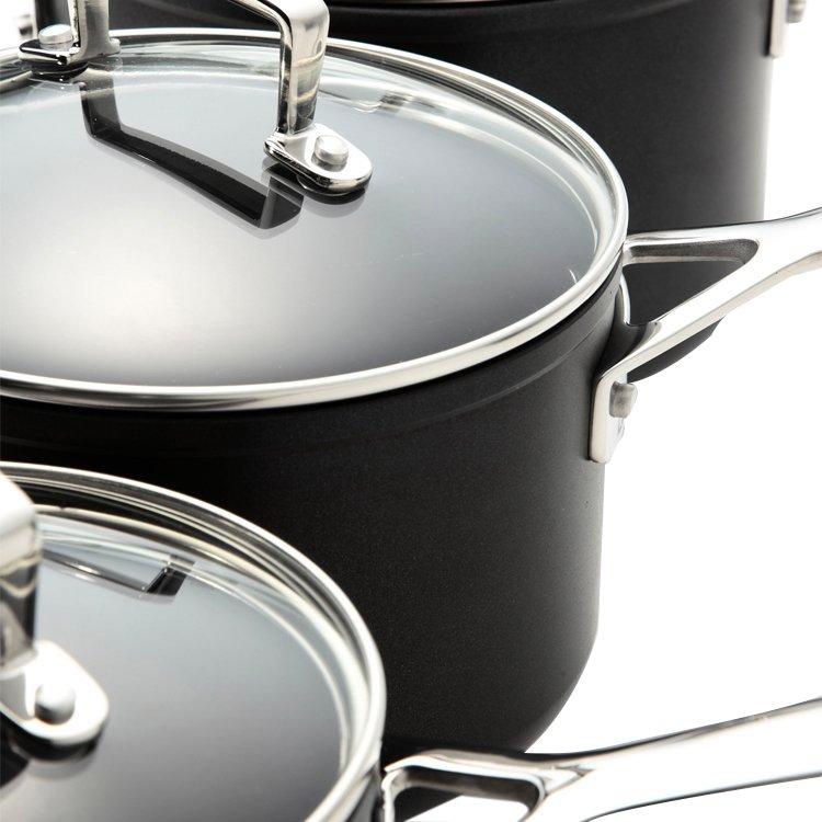 Le Creuset Toughened Non-Stick 3pc Saucepan Set