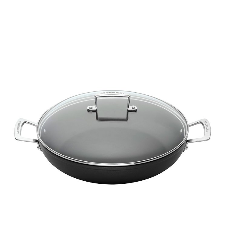 Le Creuset Toughened Non-Stick Shallow Casserole w/ Glass Lid 30cm - 3.5L