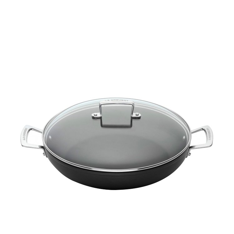 Le Creuset Toughened Non-Stick Shallow Casserole w/ Glass Lid 26cm - 3L