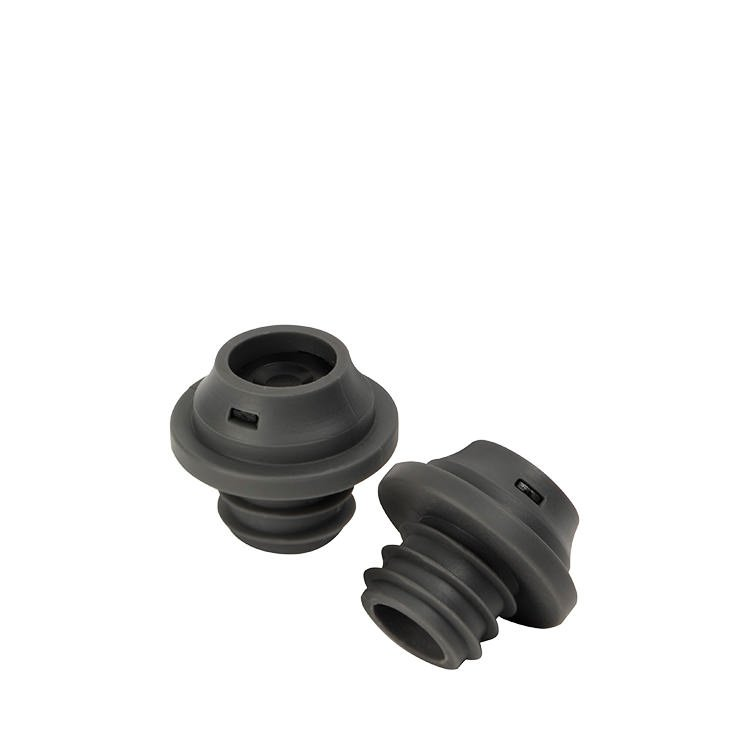 Le Creuset WA-138 Wine Stoppers Set of 2 Black