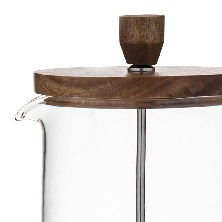 Leaf & Bean Naples Coffee Press w/ Acacia Lid & Cork Base 900ml image #2