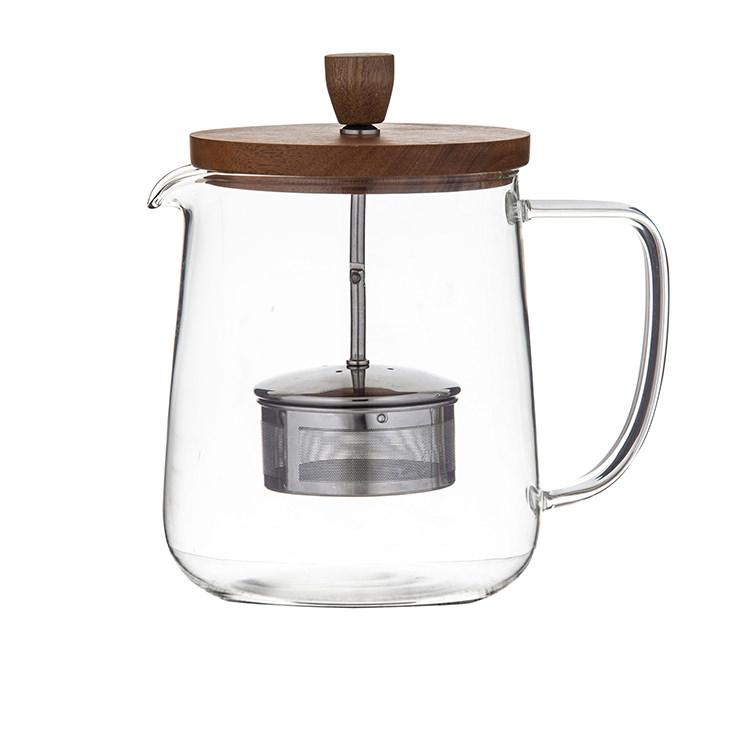 Leaf & Bean Naples Tea Pot w/ Acacia Lid & Infuser 1.2L