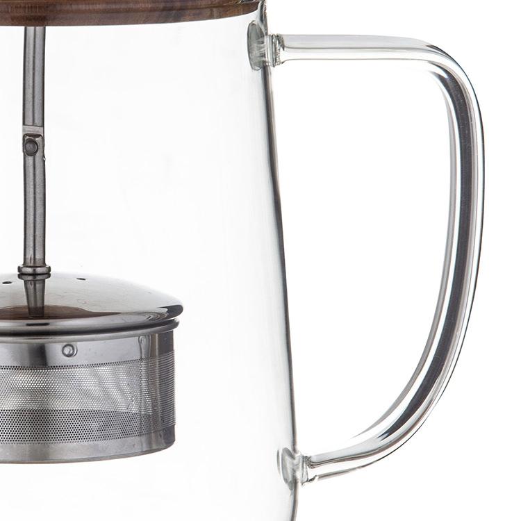 Leaf & Bean Naples Tea Pot w/ Acacia Lid & Infuser 1.2L image #3