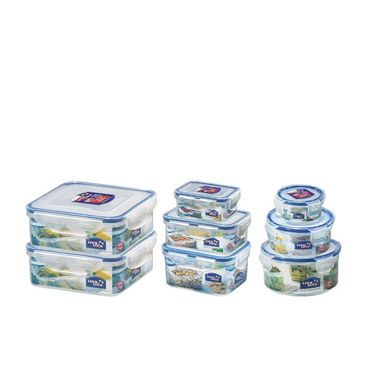 Lock & Lock Classic 8pc Food Container Set