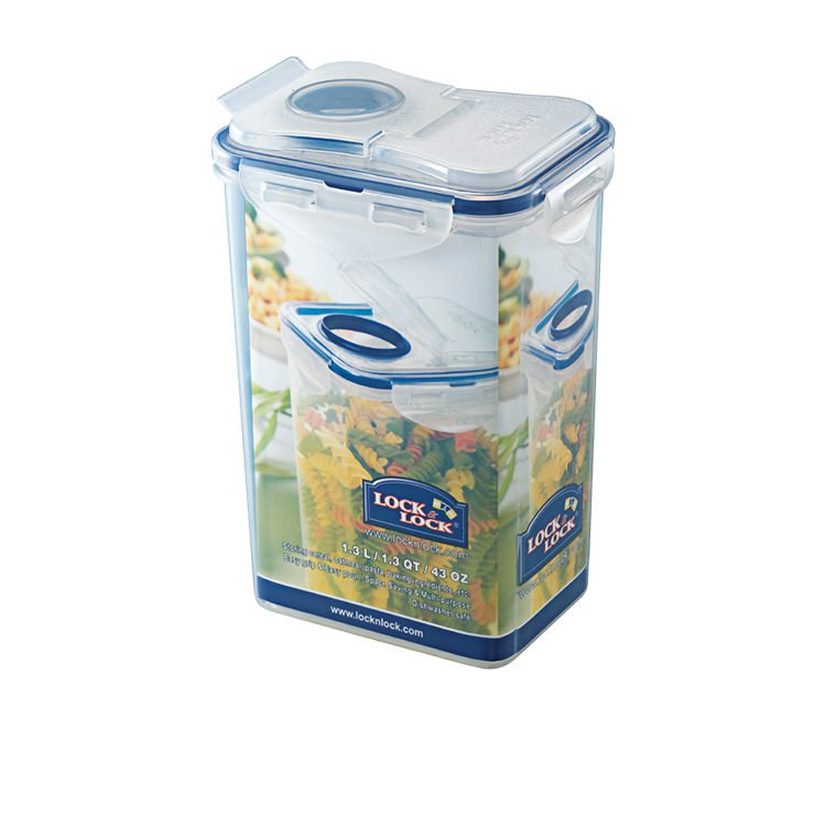 Lock & Lock Classic Rectangular Tall Container with Flip Pour Lid 1.3L