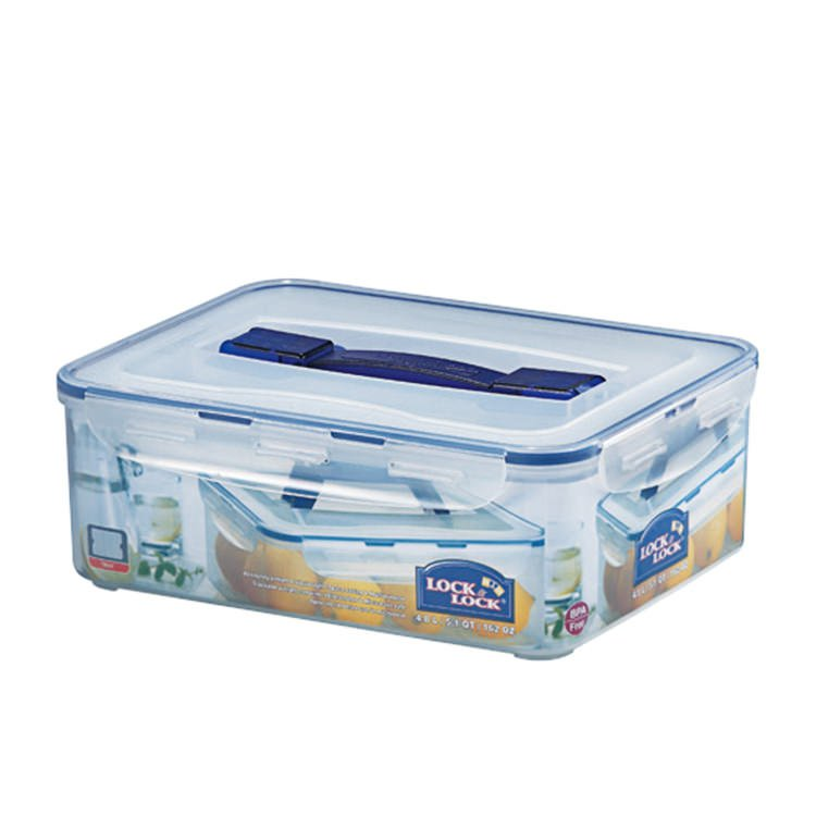 Lock & Lock Classic Rectangular Tall Container with Handle 4.8L