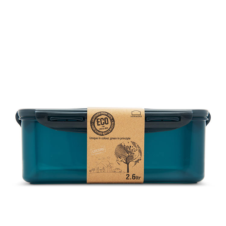 Lock & Lock Eco Rectangular Short Container 2.6L