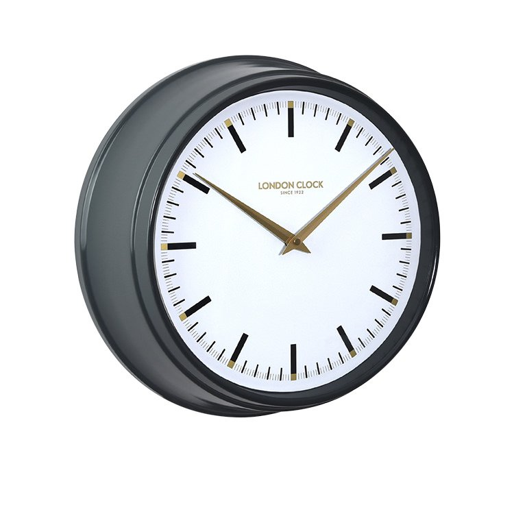 London Clock Company Hatton Metal Wall Clock 37cm