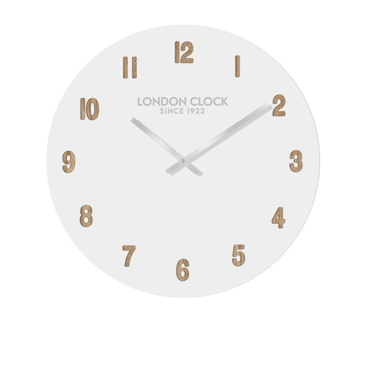 London Clock Company Hvit Numbers Wall Clock 50cm
