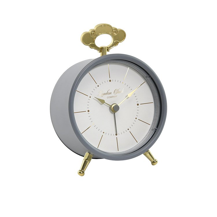 London Clock Company Tilly Silent Alarm Clock Charcoal