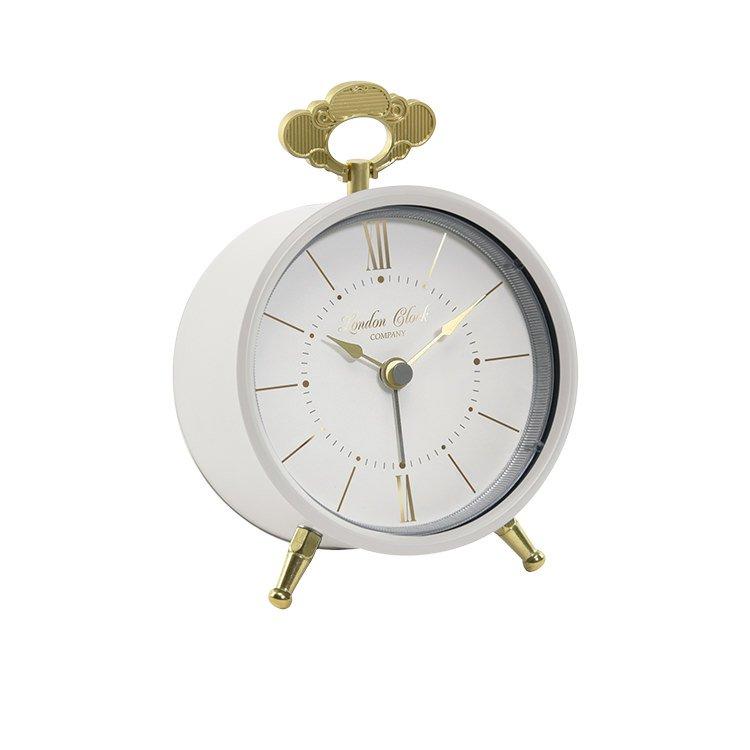 London Clock Company Tilly Silent Alarm Clock Cream