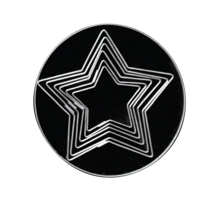 Loyal Plain 5 Point Star Cookie Cutters Set of 6