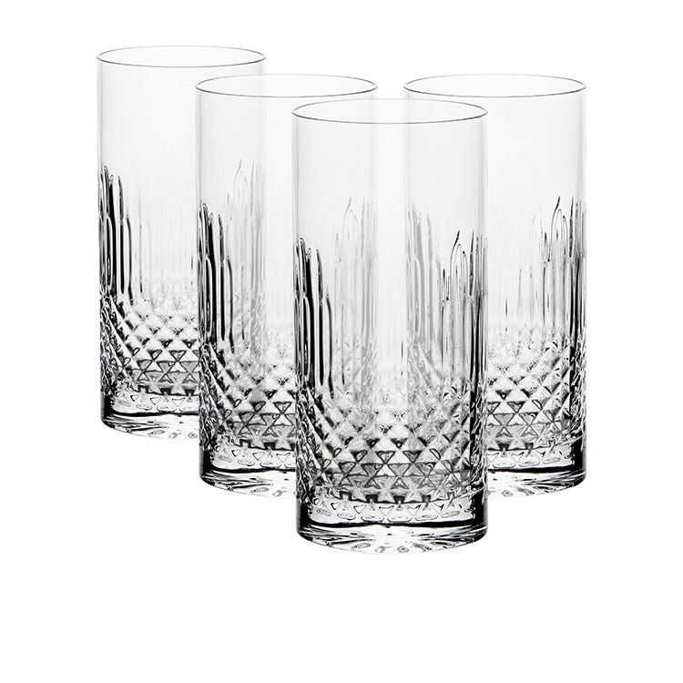 Luigi Bormioli Diamante Highball Glass 480ml Set of 4