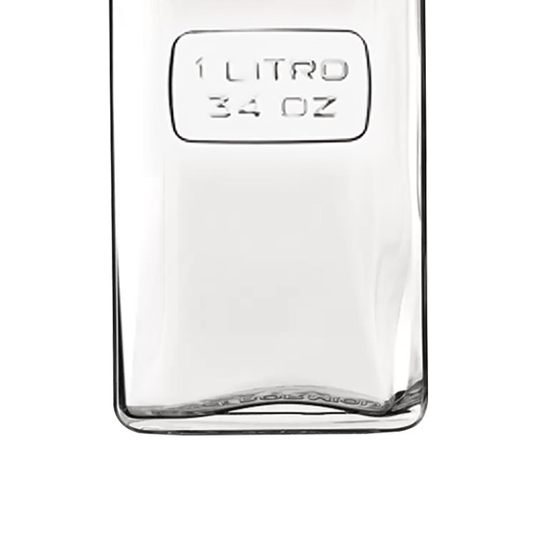 Luigi Bormioli Optima Rectangular Glass Bottle 1L