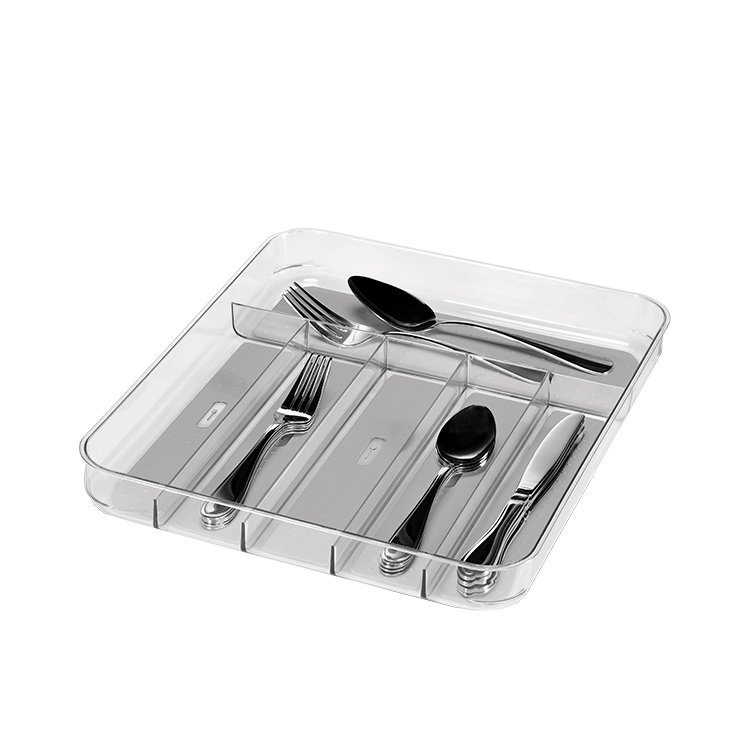 Madesmart Clear Soft Grip Cutlery Tray 39.8x33x4.8cm