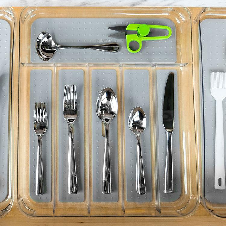 Madesmart Clear Soft Grip Cutlery Tray 39.8x33x4.8cm