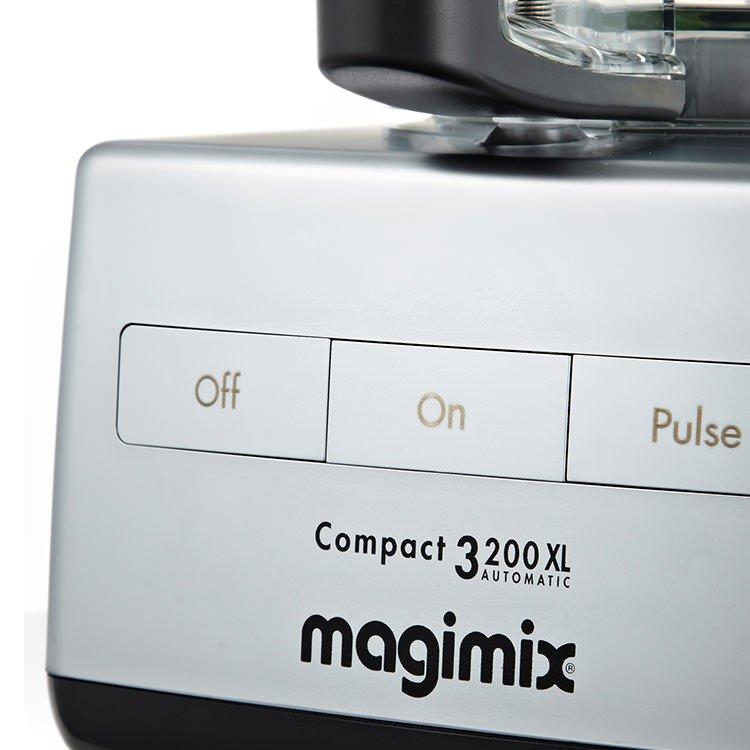 magimix 3200xl food processor matte chrome w xl feed tube. Black Bedroom Furniture Sets. Home Design Ideas