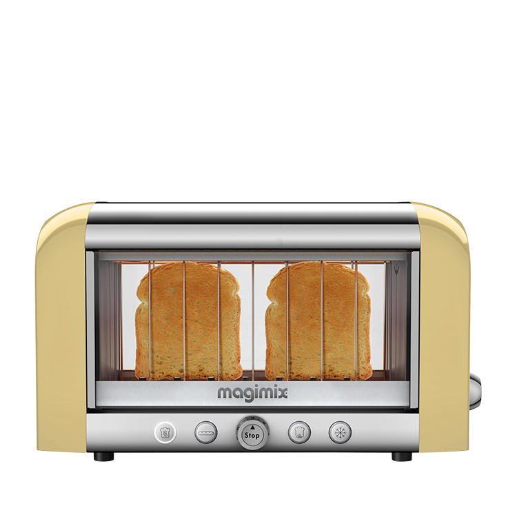 Magimix Vision Clear View Toaster 2 Slice Almond