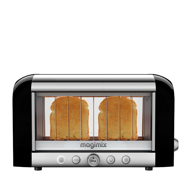Magimix Vision Clear View Toaster 2 Slice Black