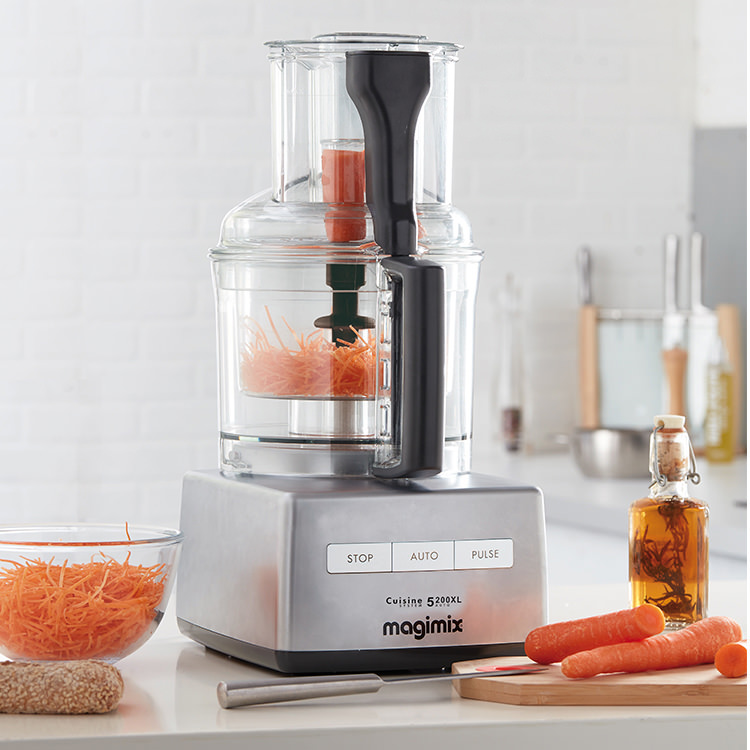 Magimix 5200XL Food Processor Matte Chrome w/ XL Feed Tube
