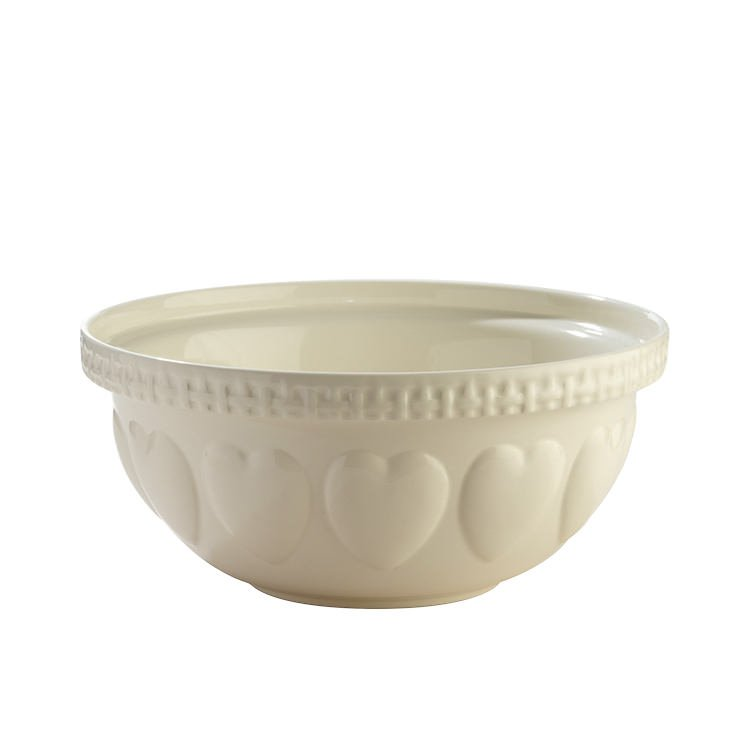 Mason Cash Hearts Mixing Bowl Cream